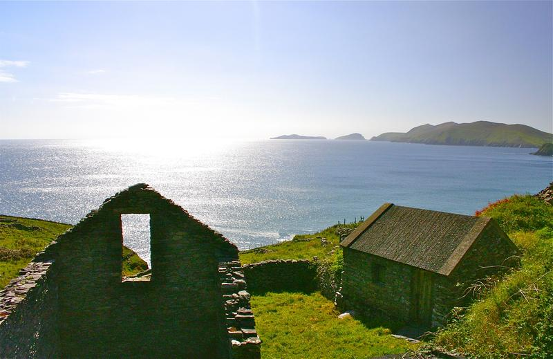 Famine cottage en route to Slea Head, County Kerry along the fabled Wild Atlantic Way
