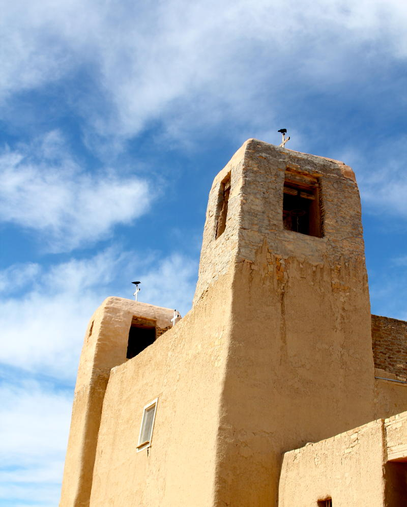 Acoma Catholic Church where Native American ceremonies are conducted along with traditional Catholic services