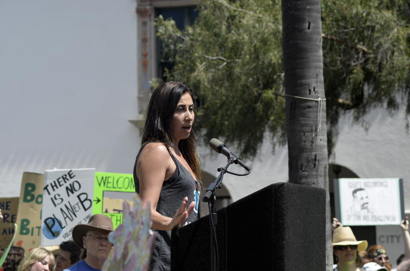 """Half of us would be dead today if it wasn't for science,"" says UC Santa Barbara Biological Oceanography Professor Debora Iglesias-Rodriguez. She spoke to a crowd at the March for Science in Santa Barbara."