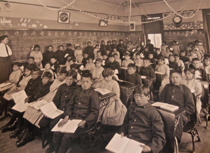 Genoa Industrial Indian School students