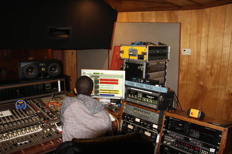Willie Mitchell's grandson at the board in Royal Studios