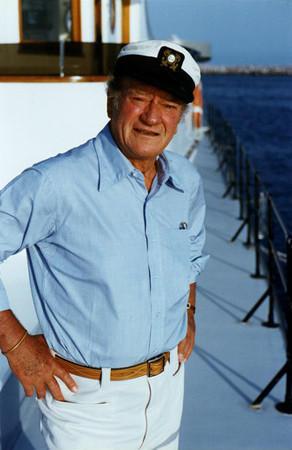 John Wayne aboard the Wild Goose