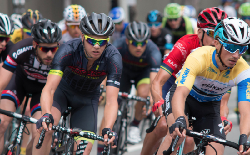 Racers compete in the 2015 Amgen Tour.