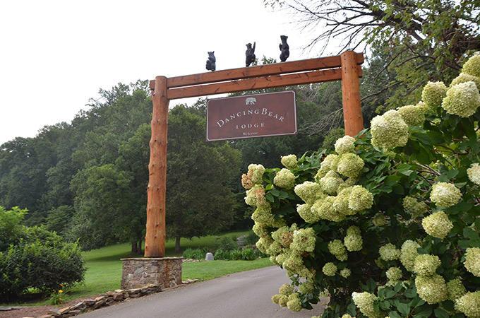 Entrance to Dancing Bear Lodge