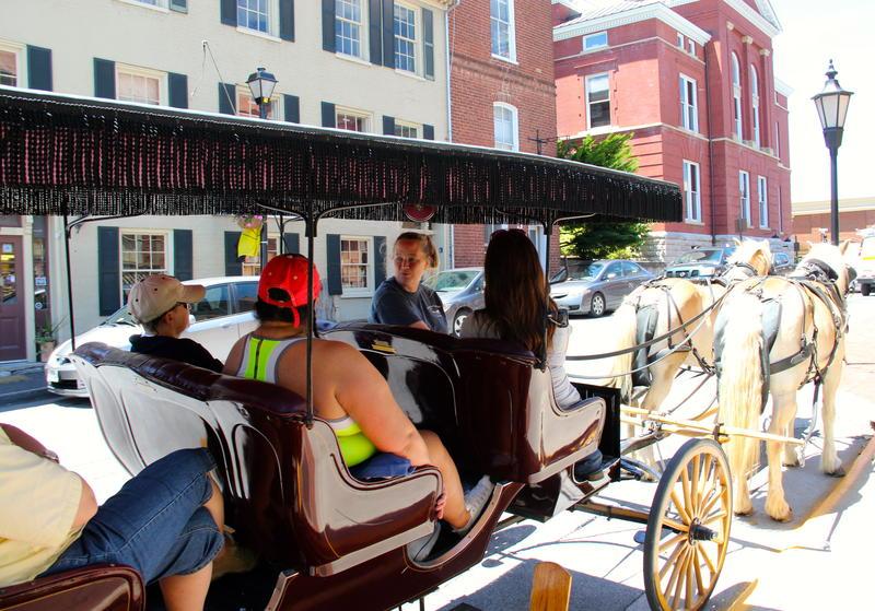 Carriage rides are popular in historic Lexington Virginia