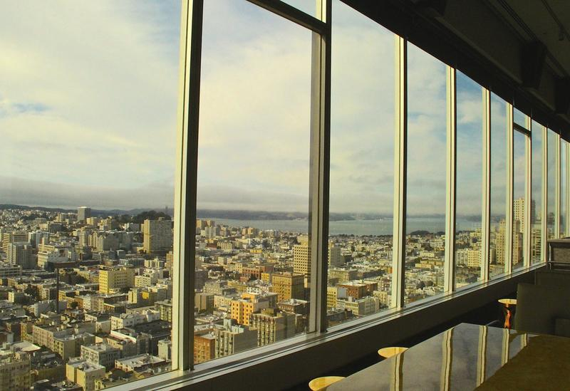atop the Hilton at Cityscape bar--definitely a room with a view