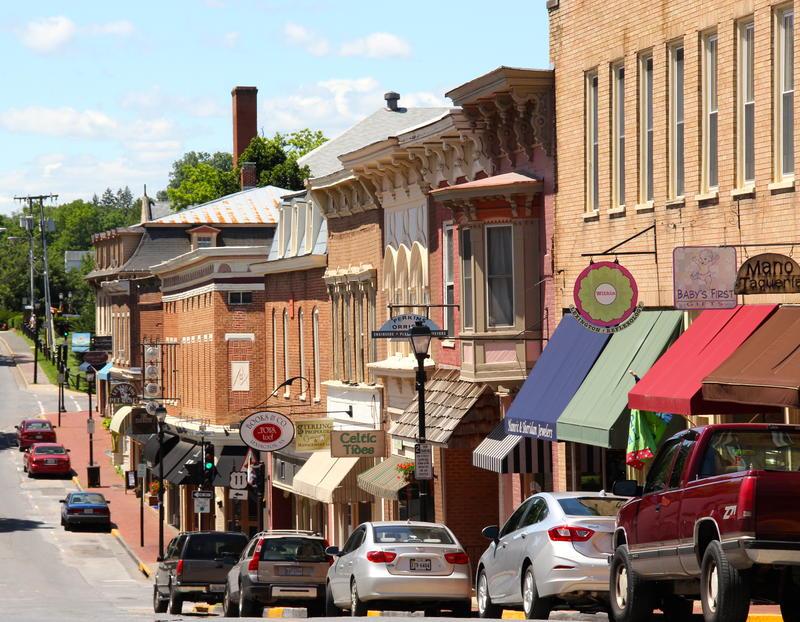 Historic architecture abounds around downtown Lexington VA