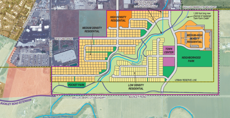 A screenshot of the Avila Ranch Land Use Plan, showing the project's planned housing density.