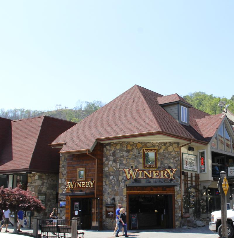Sugarland Cellars in downtown Gatlinburg, Tennessee