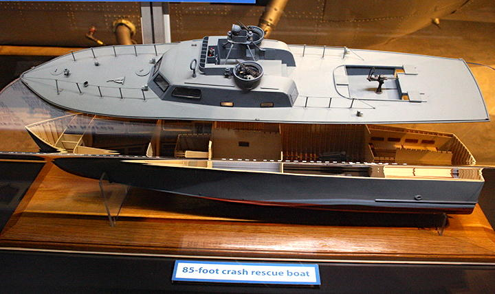 cutaway model of 85' Crash Boat