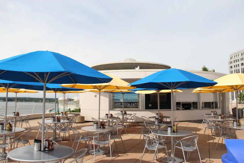 Lake Vista Cafe fooftop at Monona Terrace