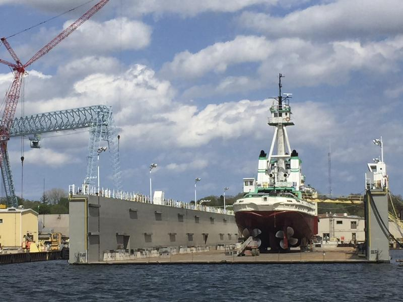 Sturgeon Bay is a busy ship repair location