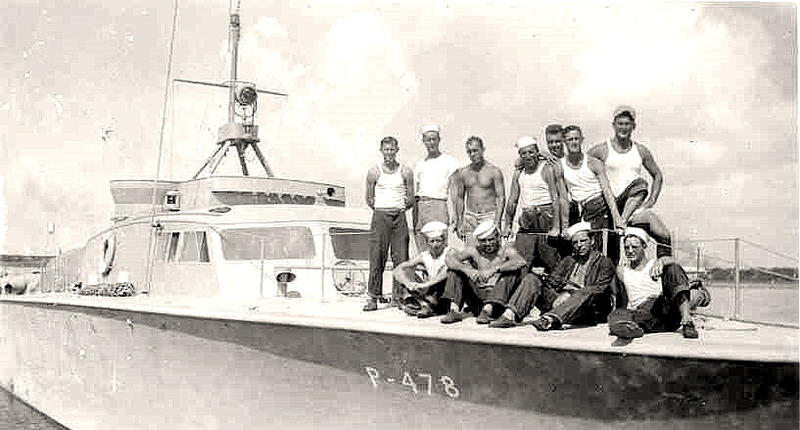 Crew aboard Crash boat