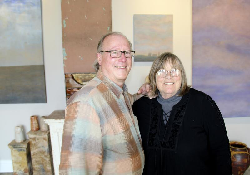 Allin Walker & Margaret Lockwood in their Sturgeon Bay, Wisconsin gallery