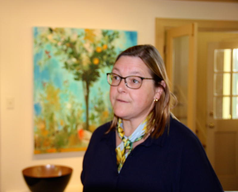 Barbara Buhr in her Warm Springs VA gallery