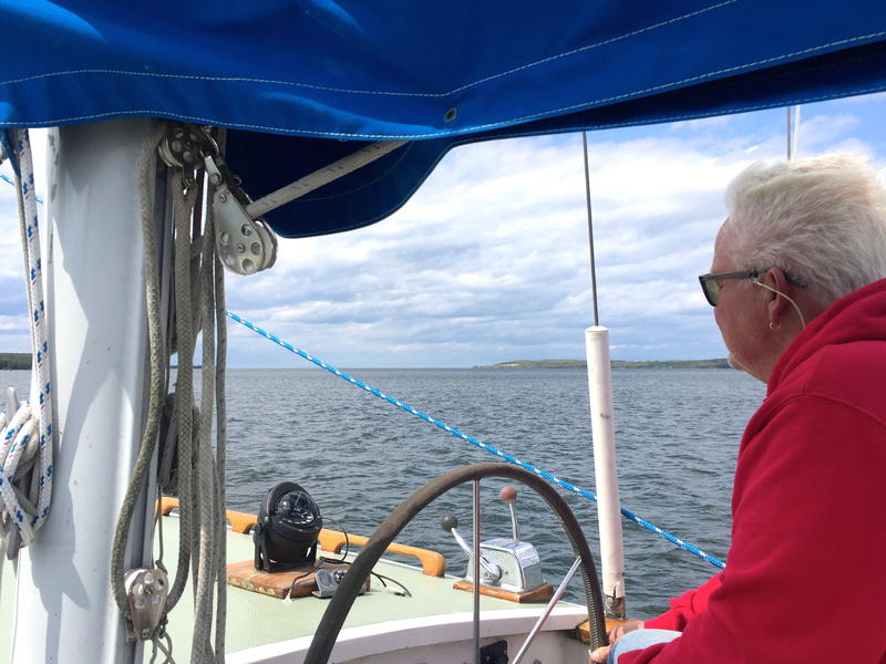 Captain Tom Kurtz skippers the sailboat Parlay through Green Bay Wisconsin