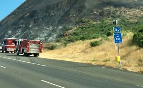As of Saturday mid-afternoon, firecrews had put out the flames and CHP reopened all lanes.