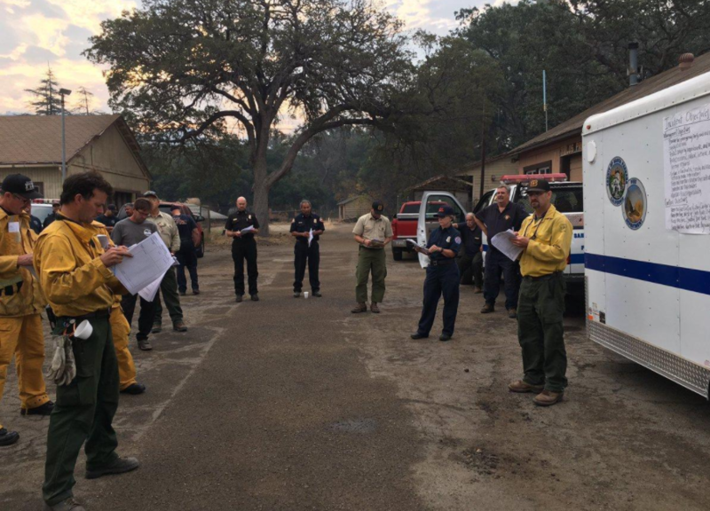 A morning briefing on the fire.