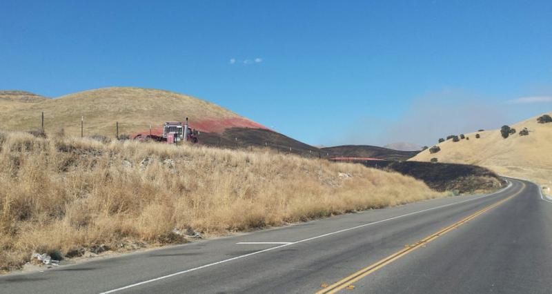 Burned acreage near Cholame on Monday.