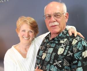 Fanny Flagg with host, Tom Wilmer