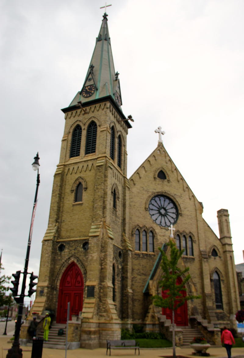 Historic archecture abounds in downtown Racine