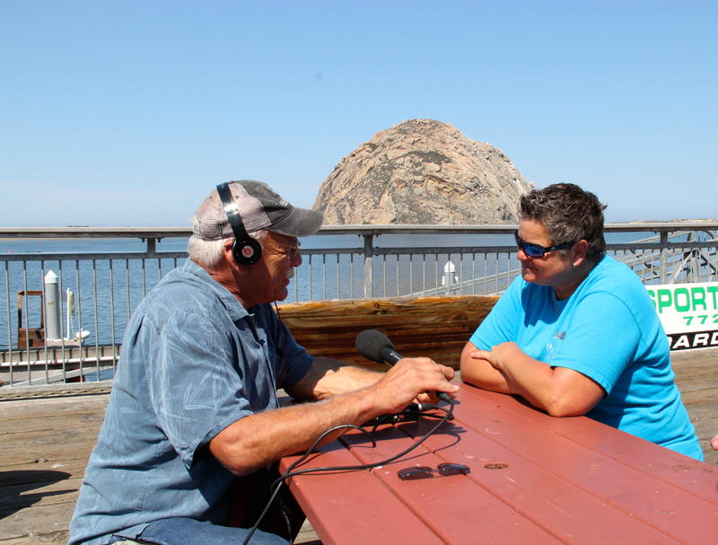 Correspondent Tom Wilmer visits with Denise the owner of Virg's Landing sport fishing company based in Morro Bay.