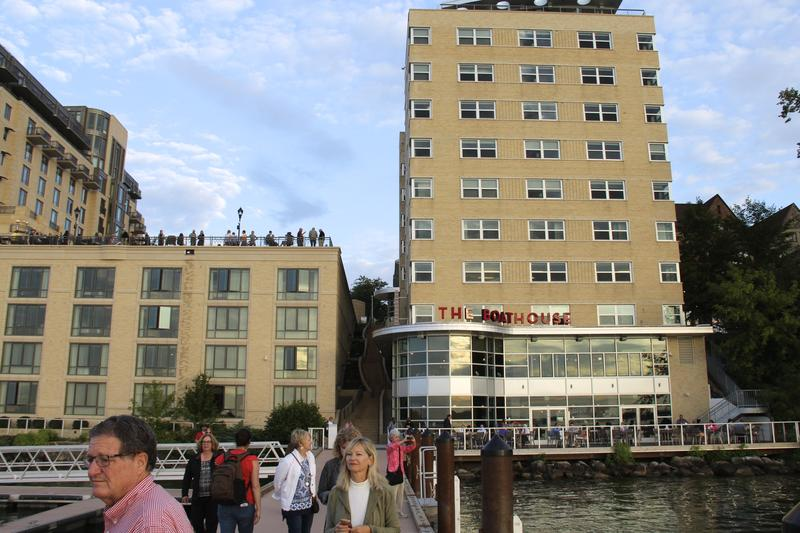 The lakefront dock at The Edegwater Hotel in Madison where boaters tie up for free