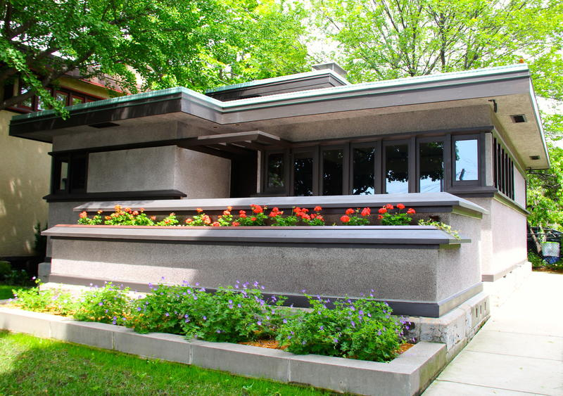 One of Frank Lloyd Wright's legacies in Racine--the USONIAN homes designed to ne affordablle for regular folk