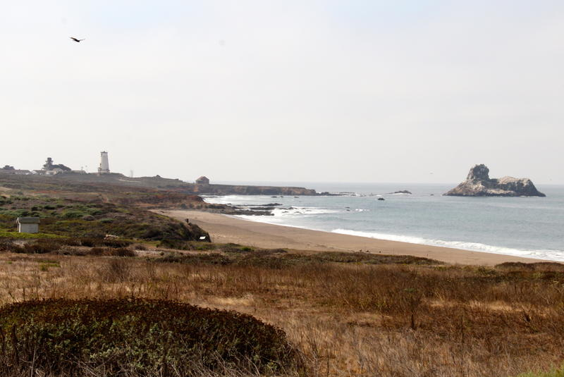 Piedras Blancas Lighthouse north of San Simeon off Highway 1