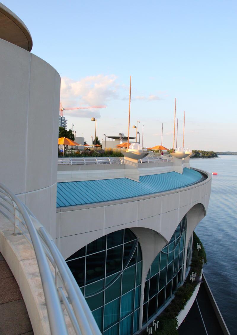 FranK Lloyd Wright designed Monona Terrace in downtown Madison, Wisconsin
