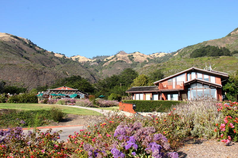 The soaring Santa lucia Mountains of Big Sur Country hug close to Ragged Point