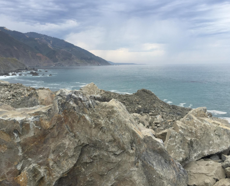 A south facing view from the Mud Creek Slide.
