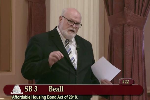 California Senator Jim Beall argues in favor of SB 35 in a June 1, 2017 Senate session.