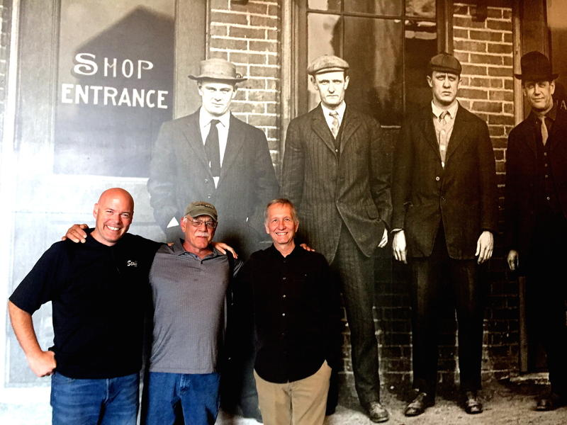 Tim McCormick Project Manager (left), Jim Fricke Curatorial Director (right), Tom Wilmer (center) at Harley-Davidson Museum