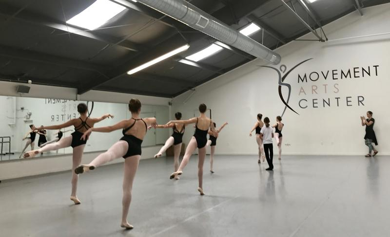 Movement Arts Center dance students at a recent rehearsal.