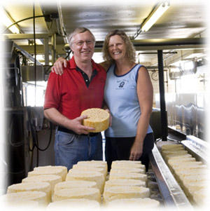 Tony and Julie Hook at their Mineral Point, Wisconsin cheese factory