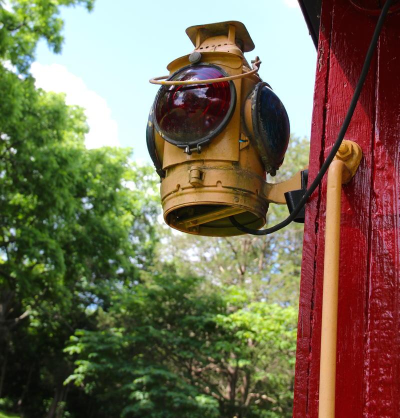 Railway lantern on Bradshaw's caboose