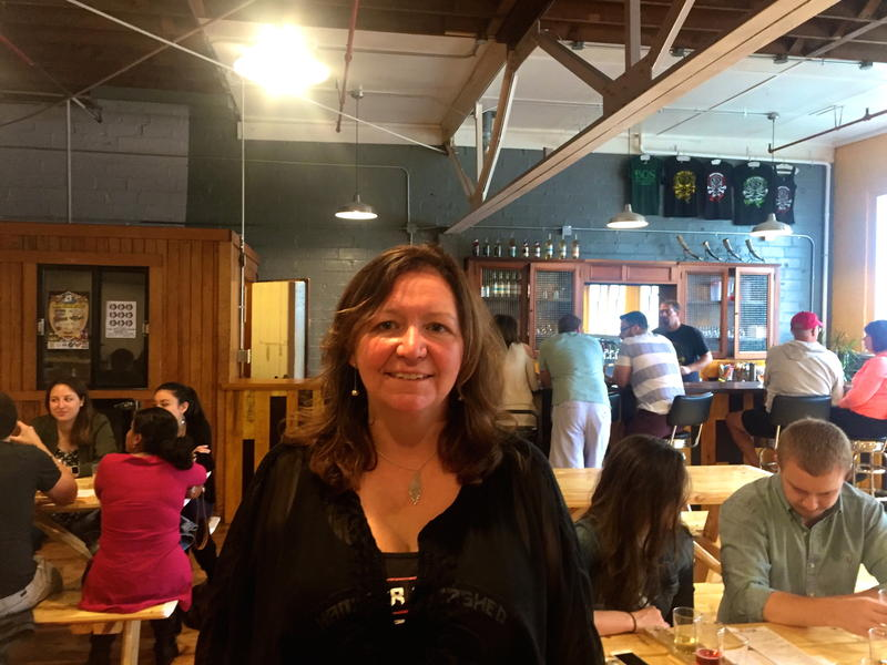 Colleen Bos at her Bos Meadery in Madison, Wisconsin