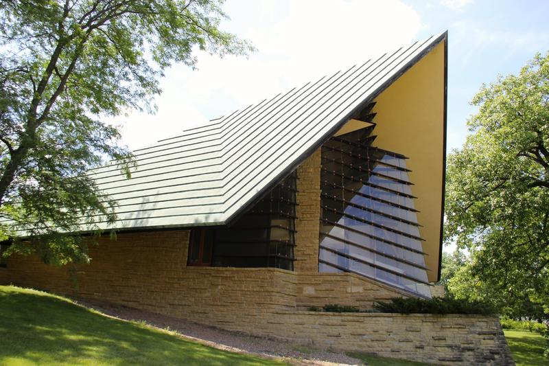 Frank Lloyd Wright's Madison Unitarian Meeting House designed in 1946 and completed in 1951
