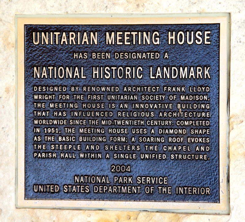 Madison Unitarian Meeting House National Historic Site Recognition