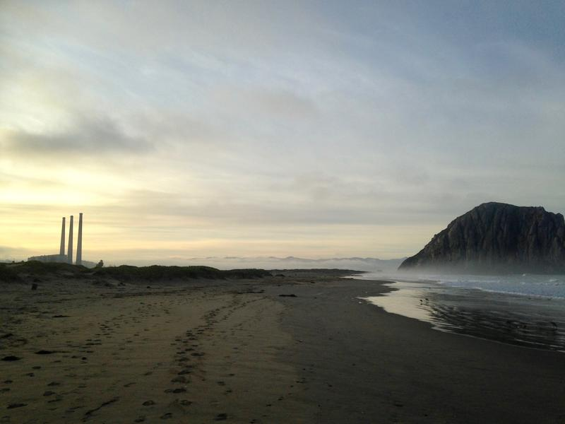 The Morro Bay Power Plant is one half mile from Morro Rock.