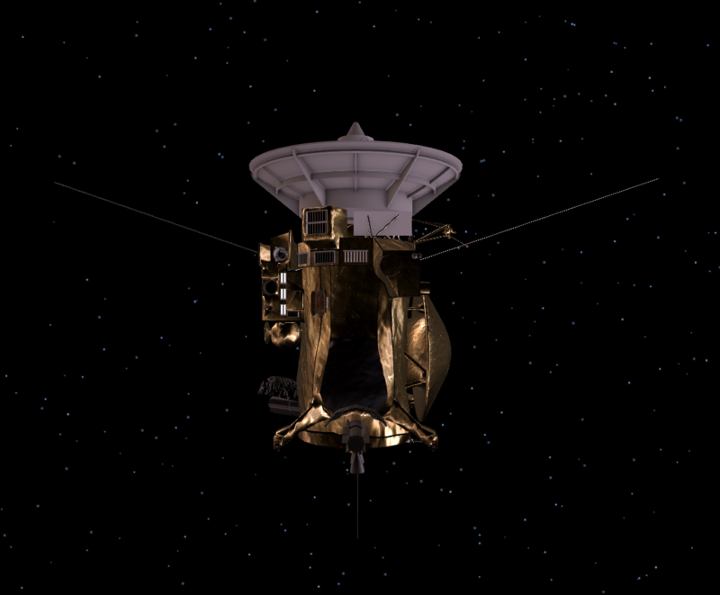 The Cassini spacecraft.