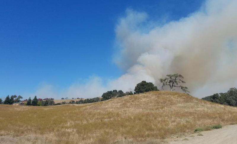 A photo of the fire when it was at approximately 40 acres.