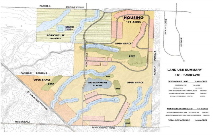The proposed Camp 4 land use map included in the intergovernmental agreement.