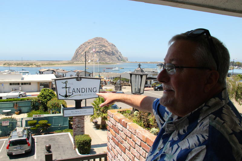 Ken Clark, manager at the newly renovated The Landing in Morro Bay proves that you do not have to stay at a waterfront hotel to capture an awesome view of the bay.