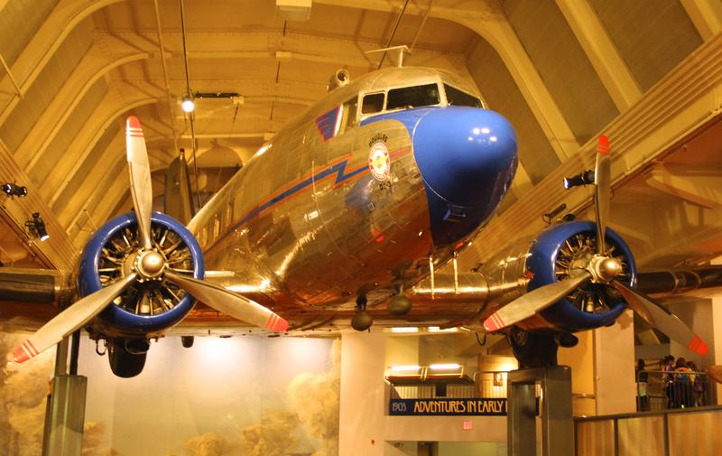 DC 3 suspended from the rafters at The Henry Ford