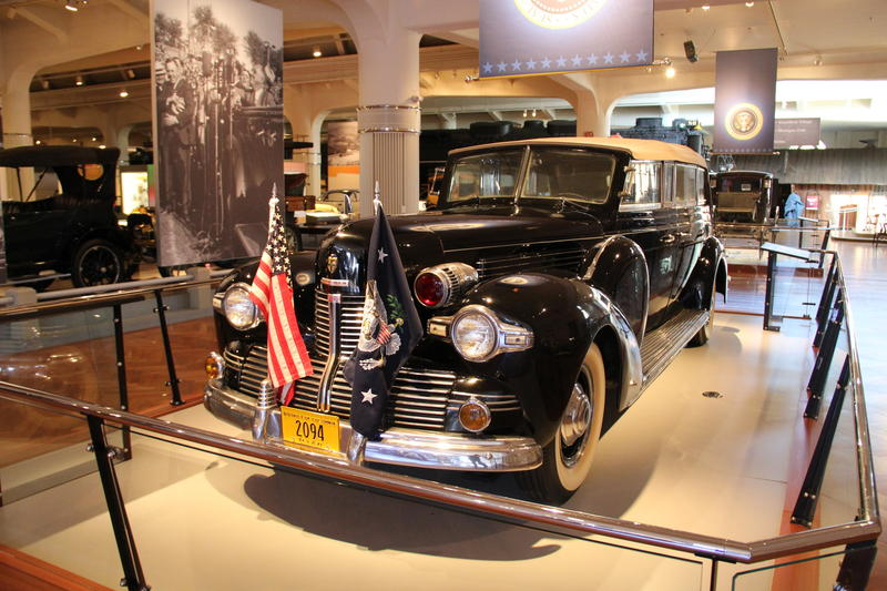 FDR's limo on display at The Henry Ford