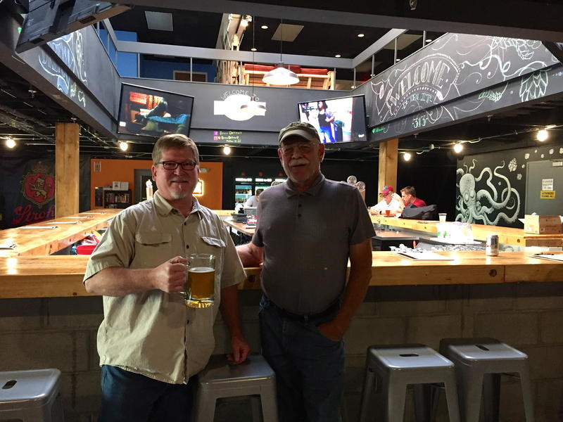 Joe Thorner Brewmaster at Brew Detroit (Left) with Tom Wilmer at Brew Detroit