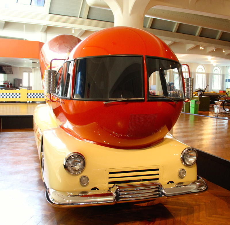 Vintage Wienermobile on display at The Henry Ford