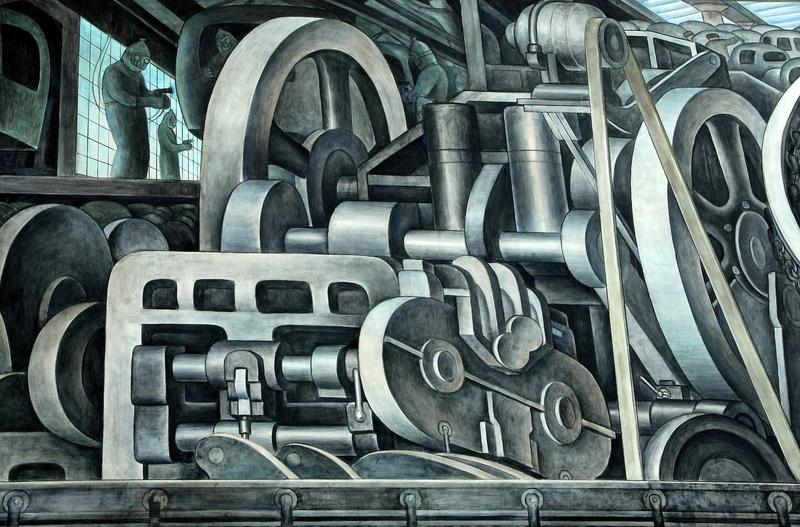 Diego Rivera's homage to Detroit's automobile industry at Detroit Institute of Ar